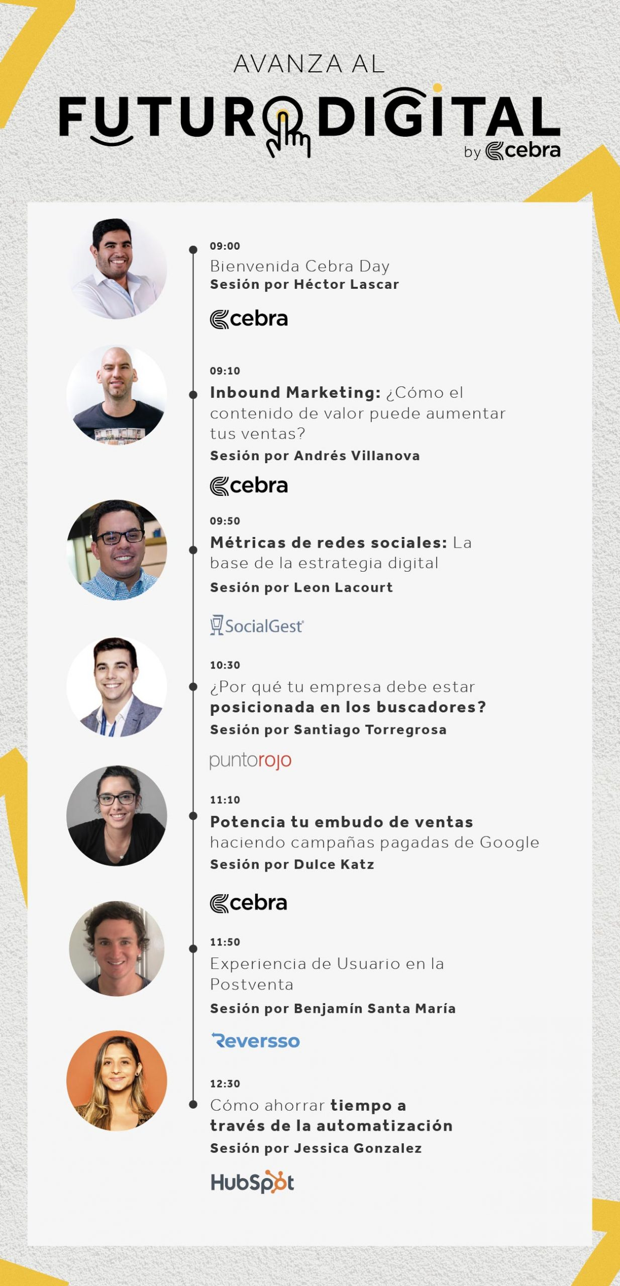 Line Up Cebra Day, Marketing Digital, Inbound Marketing, SEO, Automatización de HubSpot, Experiencia de Usuario